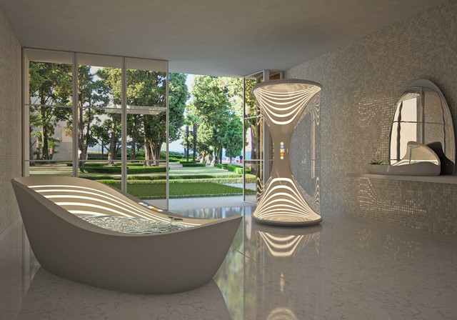 Футуристическая ванная AURORA из Италии